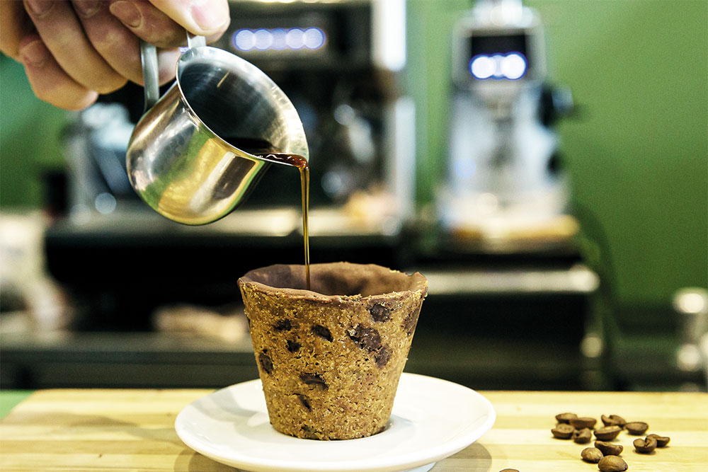 Xícara de café feita de Cookie