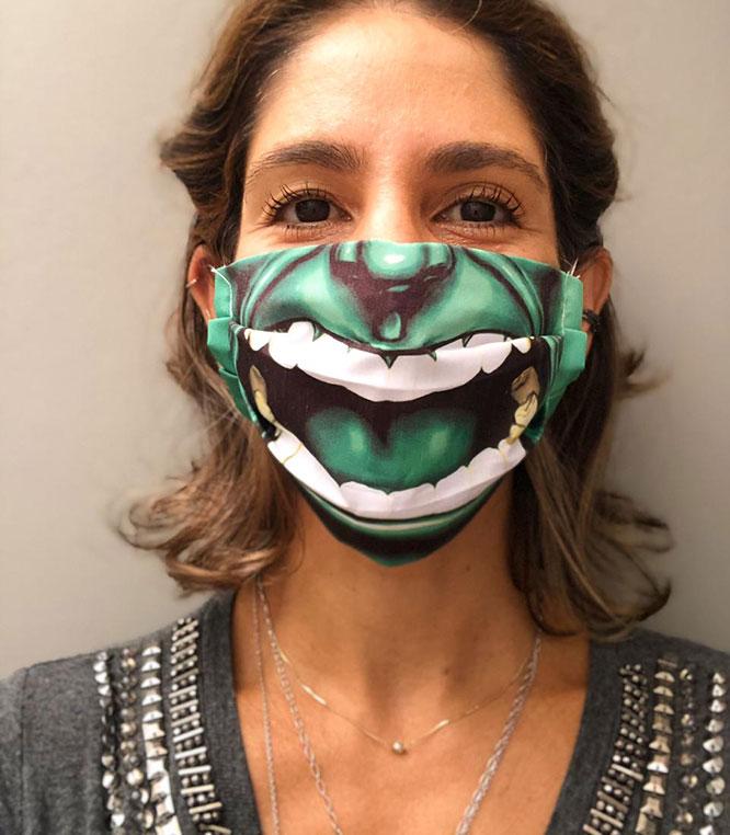 Máscaras de proteção divertidas