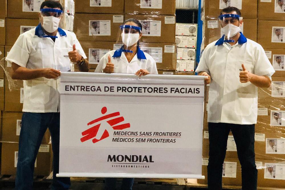 MSF recebe doação de protetores faciais produzidos pela Mondial