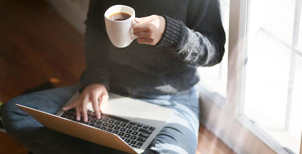 Mantenha a postura no home office