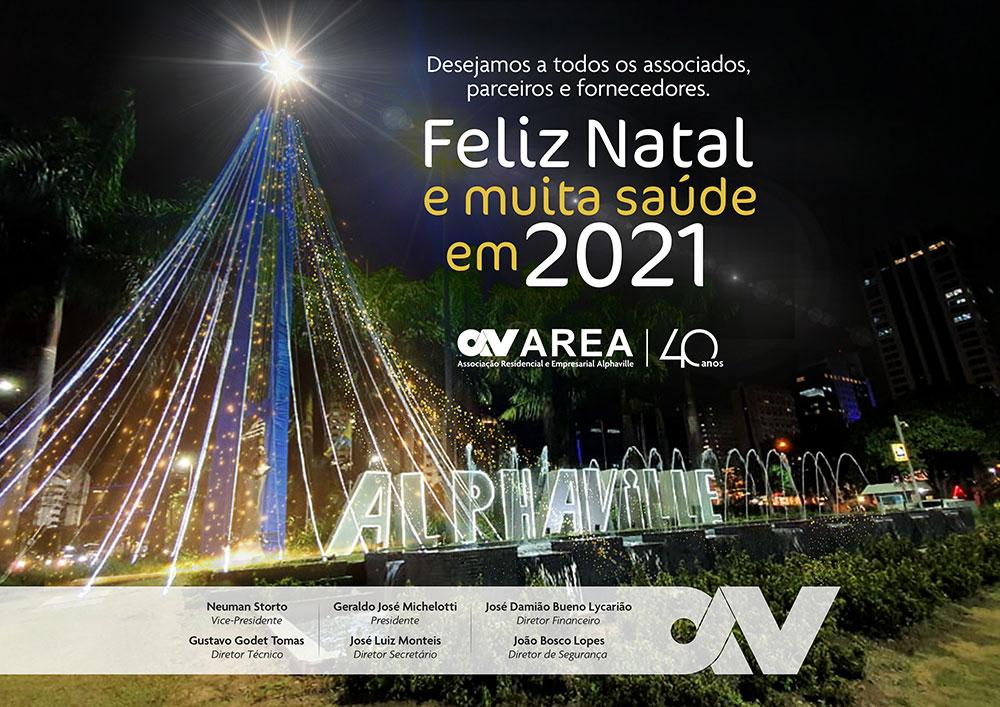 AREA prepara a decoração de Natal no Centro Empresarial de Alphaville