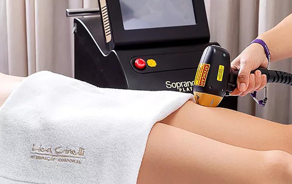 Tecnologia exclusiva de depilação a laser na Lica Cinelli