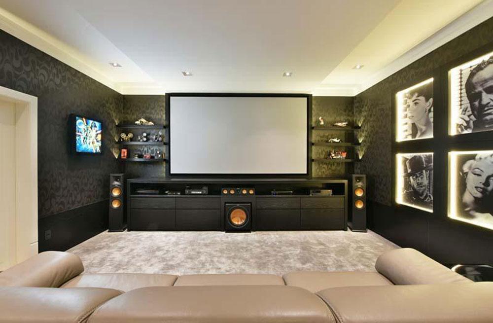 Cinema em casa inteligente