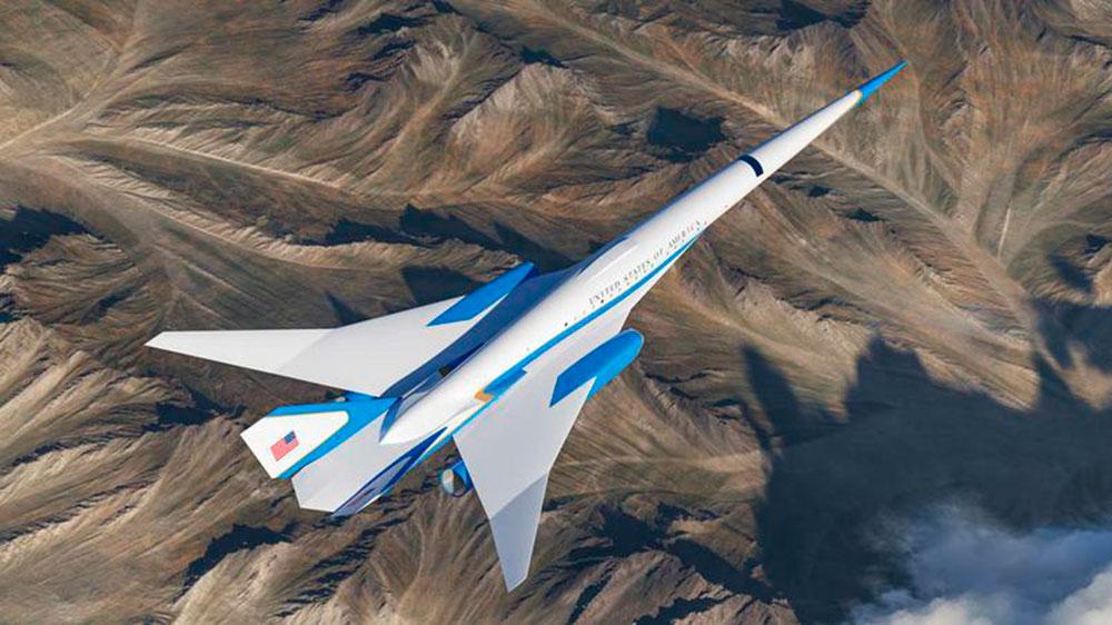 O avião do presidente dos EUA irá viajar a 5 vezes velocidade do som