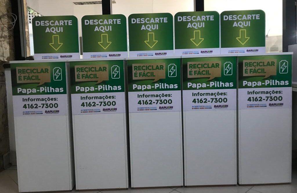 Sema distribui papa-pilhas em pontos estratégicos para descarte responsável