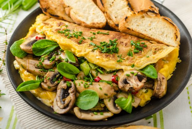 Omelete de Cogumelos na Omeleteira Mondial